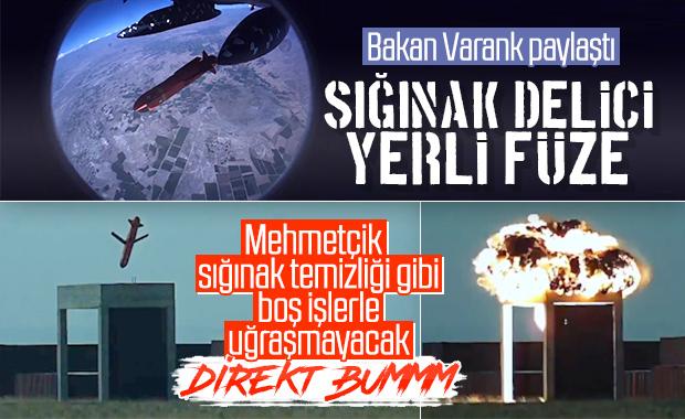 Bakan Varank, SOM-B2 füzesinin test görüntülerini paylaştı