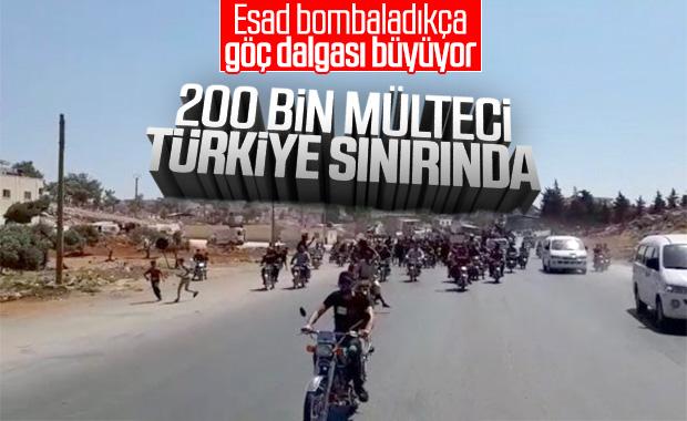 200 binden fazla Suriyeli Türkiye sınırında