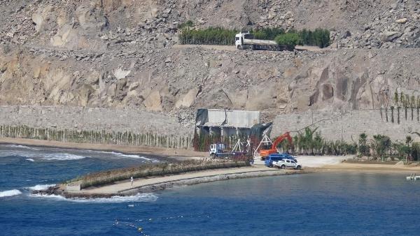 Bodrum'daki kaçak yapının yıkımına başlandı