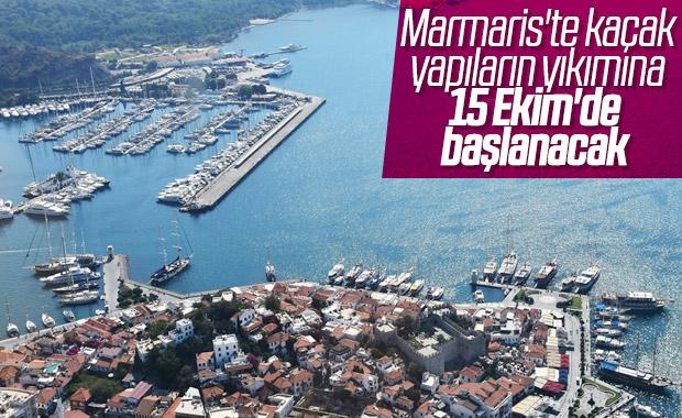 Marmaris'te kaçak yapılarla mücadele sürüyor