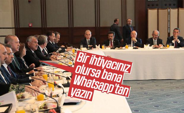Erdoğan, belediye başkanları ile Whatsapp grubu kurdu