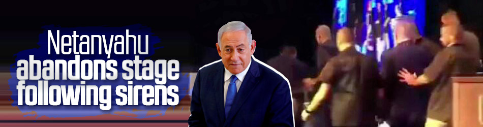 Israeli PM abandons stage following sirens