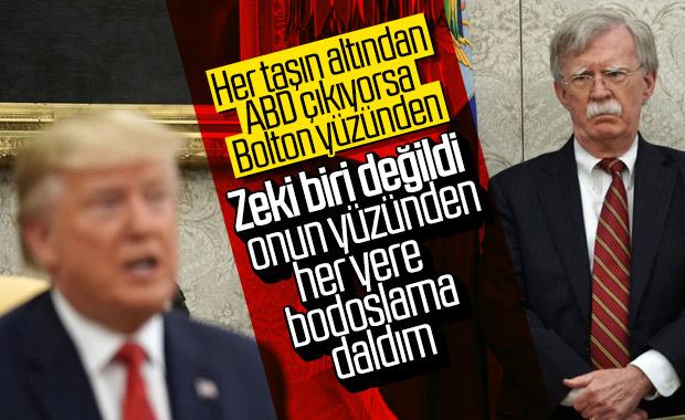 Bolton'ın istifası için Trump'ın bahanesi