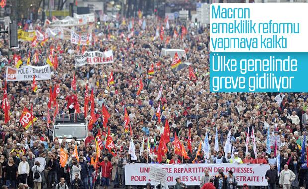 Fransa'da ülke çapında büyük grev hazırlığı