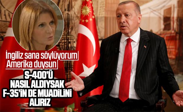Cumhurbaşkanı Erdoğan: F-35'lerin muadilini alırız