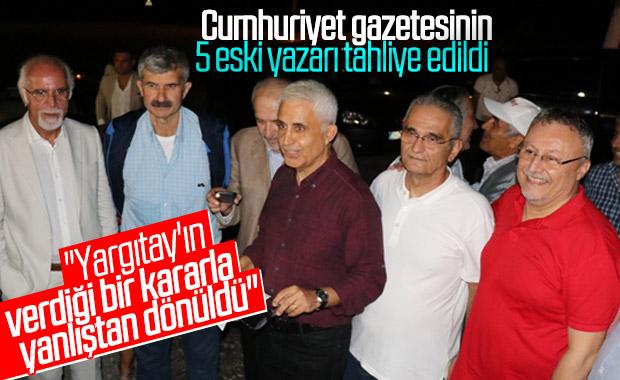 Tutuklu 5 Cumhuriyet gazetesi yazarı serbest kaldı