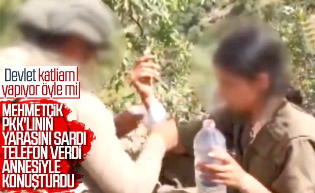 Mehmetçik, PKK'lı teröristin yarasını sardı