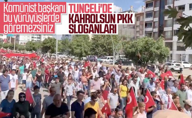 Tunceli'de teröre lanet yürüyüşü