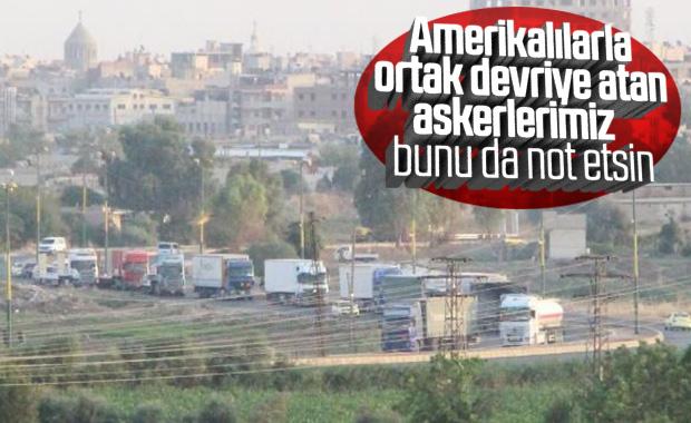 200 araçlık ABD konvoyu Suriye'den Irak'a geçiş yaptı