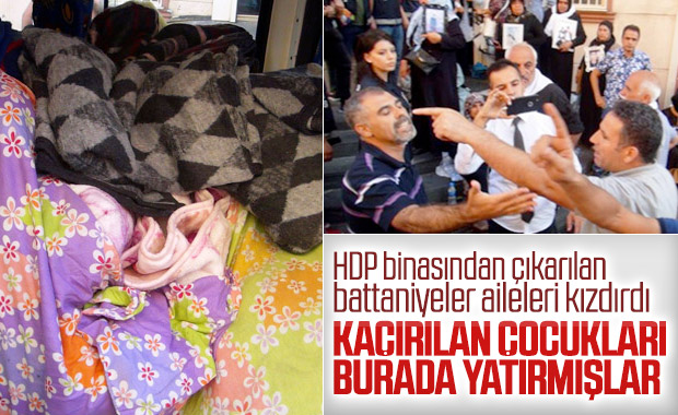 HDP il binası önünde battaniye gerginliği