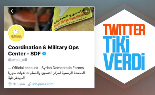 Twitter, YPG'ye mavi tik verdi