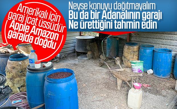 Adana'da narenciye bahçesinde içki imalathanesi