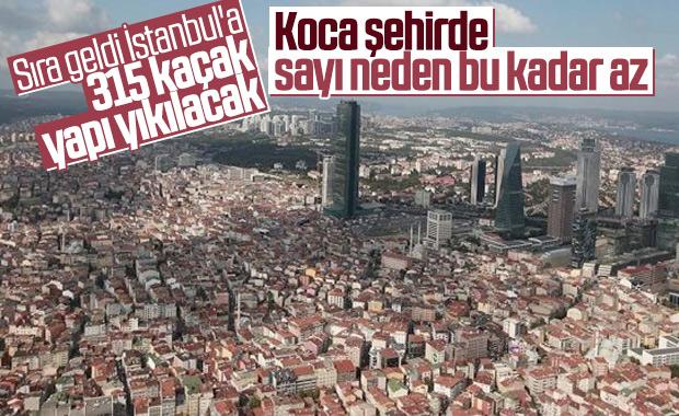 İstanbul'da da kaçak yapıların yıkımı başladı