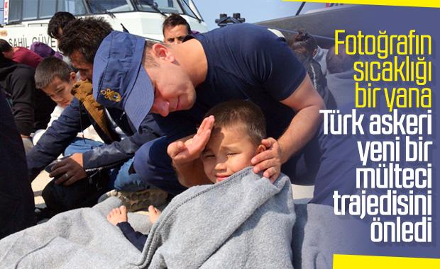 Botları batan mültecileri Sahil Güvenlik kurtardı