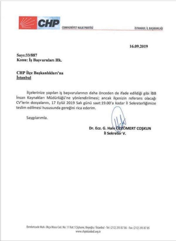 İmamoğlu, CHP'lilere torpil talimatını yanlış buldu