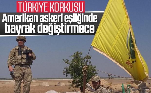 YPG, Türkiye korkusuyla bayrak değiştirdi