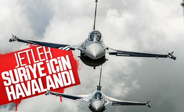 Türk F-16'ları Suriye hava sahasına girdi