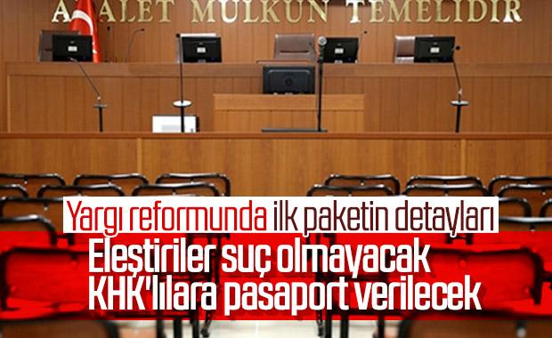 Yargı reformunda ilk paketin detayları