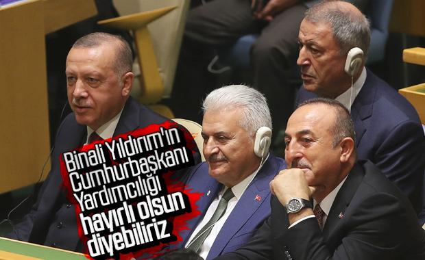 Binali Yıldırım da Erdoğan'ın BM heyetinde yer aldı