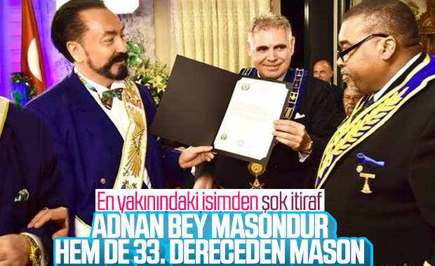 Ahmet Oktar Babuna: Adnan Bey masondur