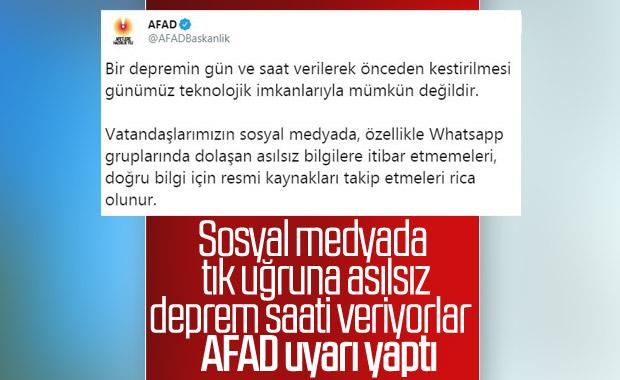 AFAD'dan sosyal medya uyarısı