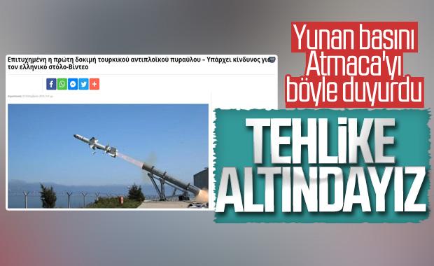 Atmaca'nın başarısı Yunan basınında