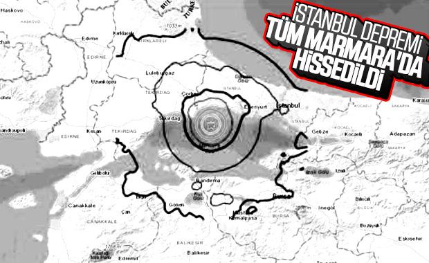 Deprem haritası yayınlandı