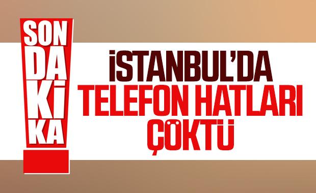 İstanbul'da telefon hatları çöktü