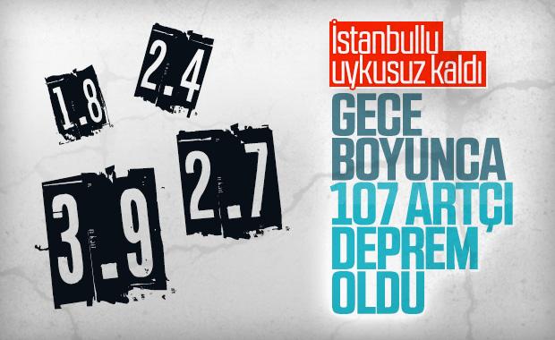 İstanbul'da artçı depremler gece boyunca devam etti