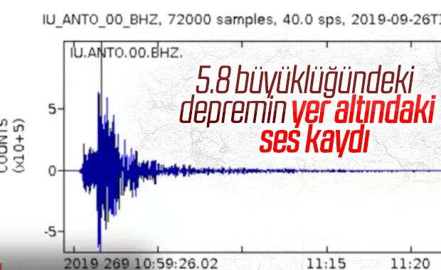 İstanbul depreminin sesi kaydedildi