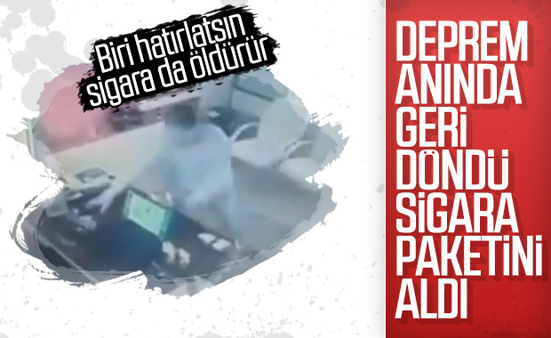 İstanbul'da deprem sırasında kaydedilen ilginç görüntüler