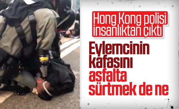 Hong Kong'da polisin eylemcilere acıması yok