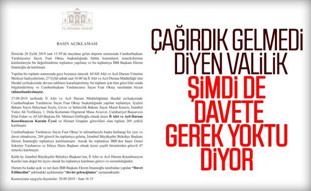 İstanbul Valiliği, Ekrem İmamoğlu'na cevap verdi