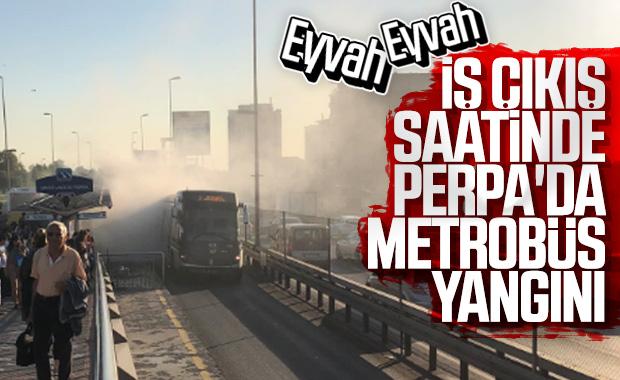 Darülaceze'de metrobüs yangını