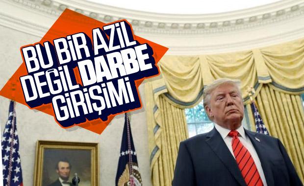 Trump: Bana ve halka darbe yapılıyor