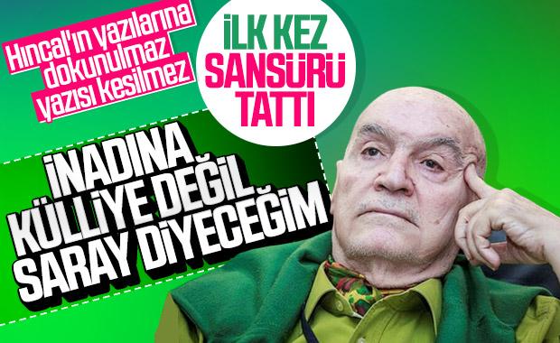 Hıncal Uluç, Sabah gazetesine tepki gösterdi