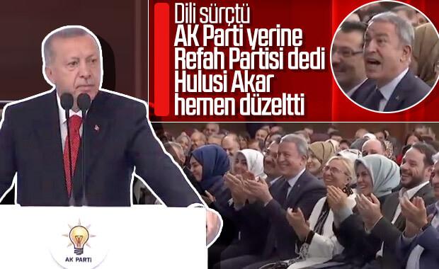 Erdoğan'ın dili sürçtü, Hulusi Akar düzeltti