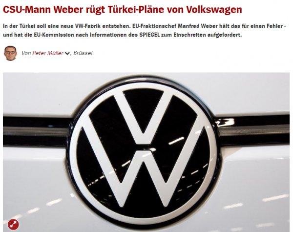 Avrupa Parlamentosu, Volkswagen'in kararını kınadı