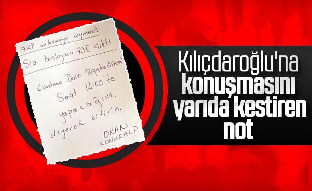 Danışmanının Kemal Kılıçdaroğlu'na yazdığı not
