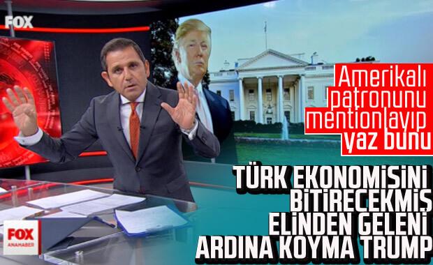 Fatih Portakal'ı, Trump sinirlendirdi