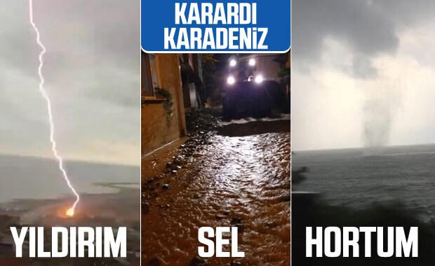 Doğu Karadeniz'de sel, hortum ve fırtına