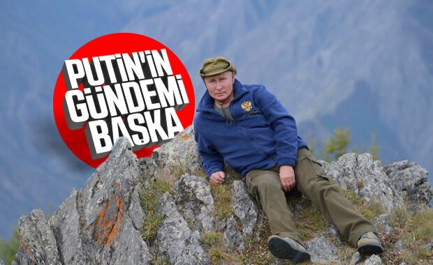 Putin ve Şoygu ormanda