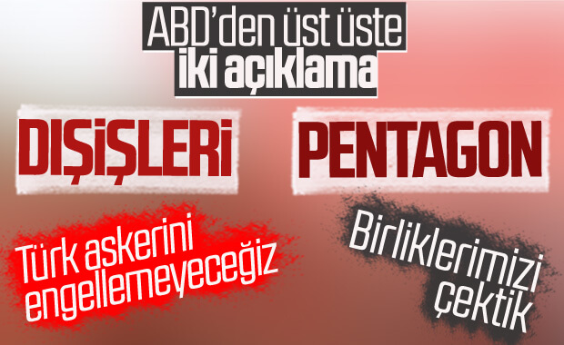 ABD Dışişleri ve Pentagon'dan Türkiye açıklaması
