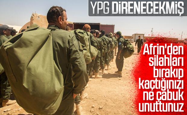 YPG, Türkiye'ye karşı 'direneceğiz' diyor