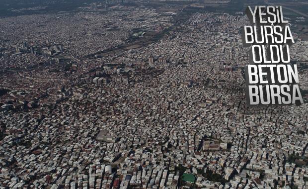 Bursa'nın havadan görüntüsü