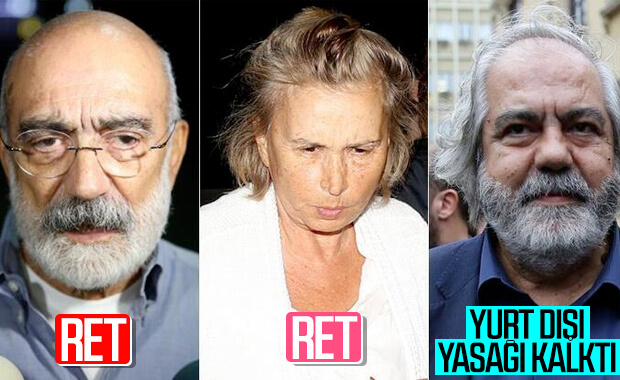 Ahmet Altan ve Ilıcak'a ret, Mehmet Altan'ın yasağı kalktı