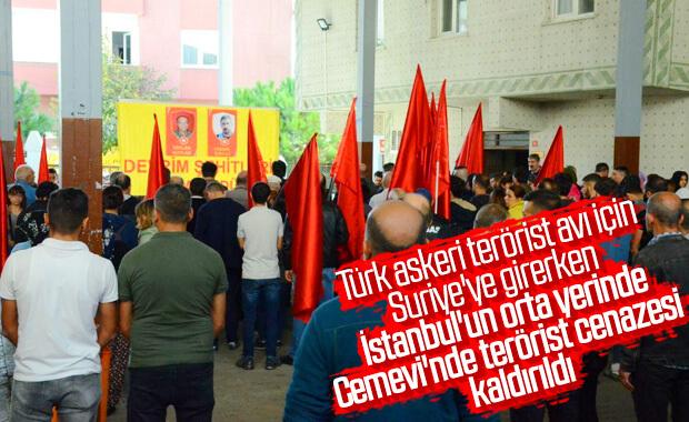 İstanbul'da cemevinden terörist cenazesi kalktı