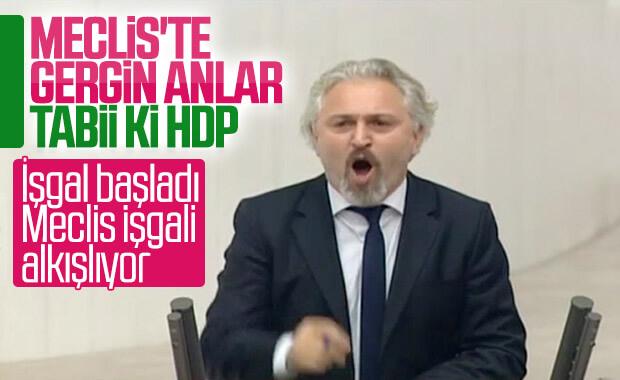 HDP'li vekil Meclis'te konuştu: İşgal başladı