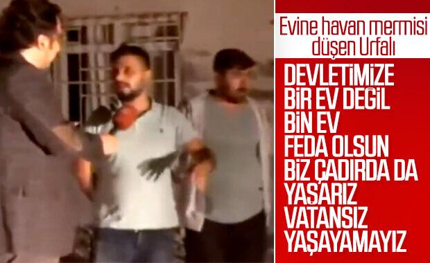 YPG'nin attığı havan Akçakale'de bir eve isabet etti