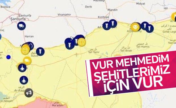 YPG hedeflerine bombalar yağıyor